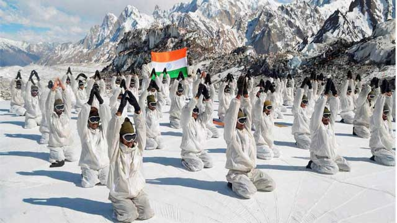 Look how Yoga Day is being planned for Siachen soldiers