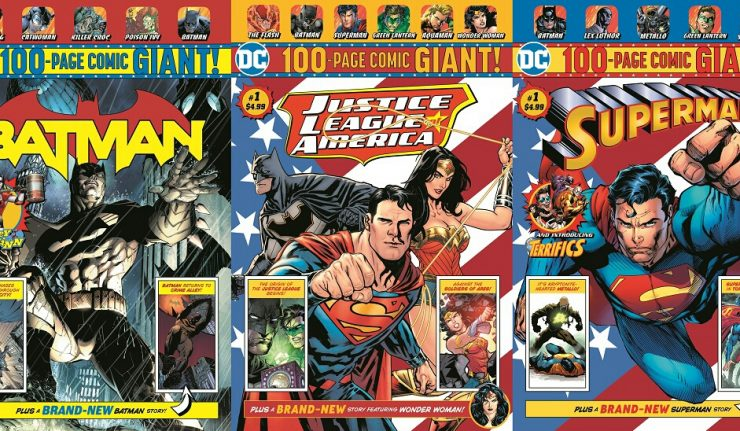 DC Entertainment, Walmart, characters, comics, Superman, Batman, Giant books,