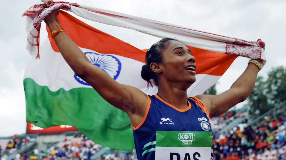 Hima Das, winner, first ever gold, athletics, U-20 Athletics championship, Assam, Nippon, tomboy, sports, sport history, Hima Das, athletics, world championships, first woman, Athletics Federation of India (AFI), Finland, India, Hima Das