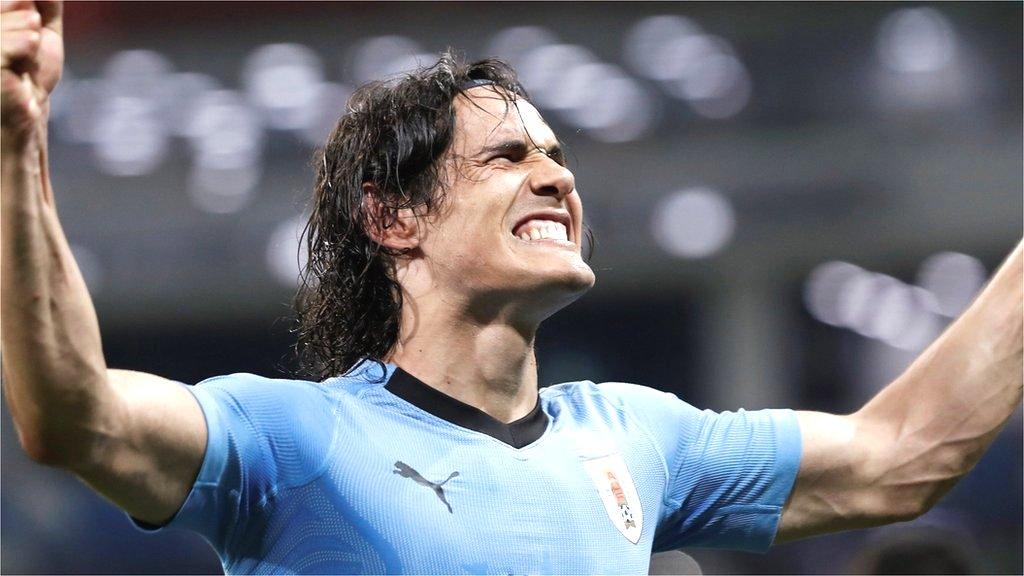 Edison Cavani, Pepe, Cristiano Ronaldo, Portugal, Uruguay, FIFA World Cup, Fisht Olympic Stadium, France, Argentina, goals, football, soccer,