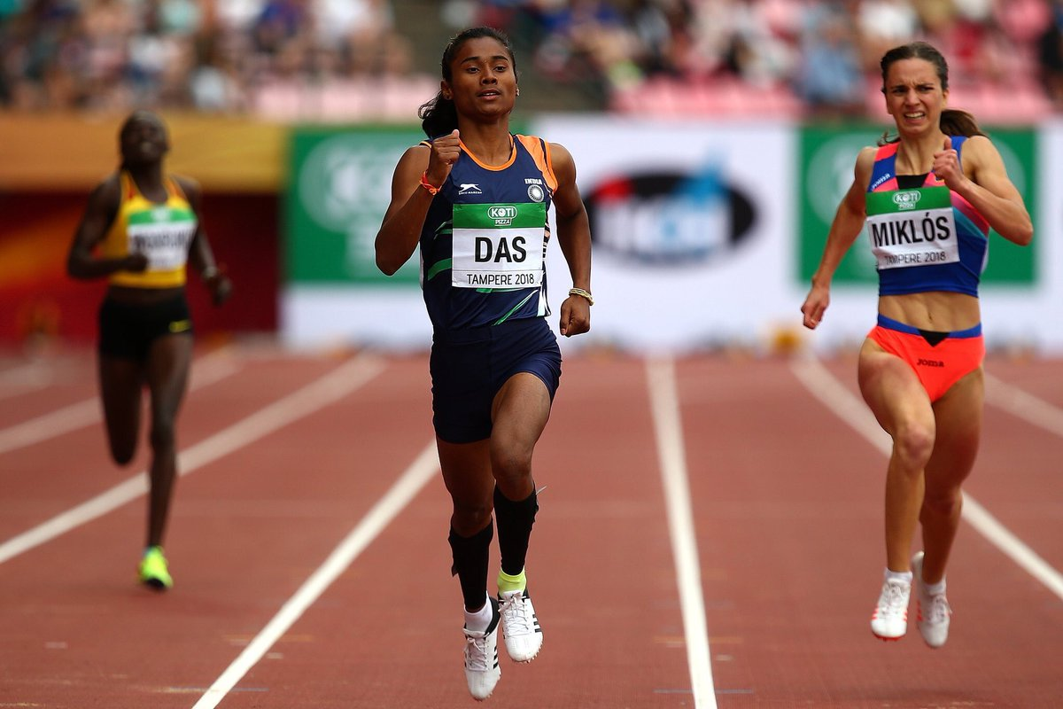 Hima Das, winner, first ever gold, athletics, U-20 Athletics championship, Assam, Nippon, tomboy, sports, sport history