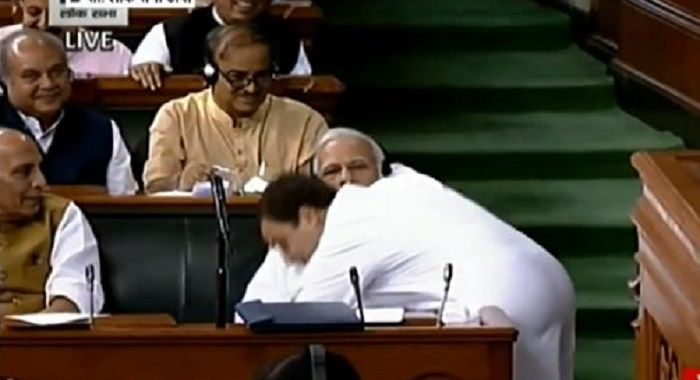 BJP, Congress, Opposition, No Confidence Motion, Rahul Gandhi, Narendra Modi, Hug and wink, Lok Sabha, Parliament debate,