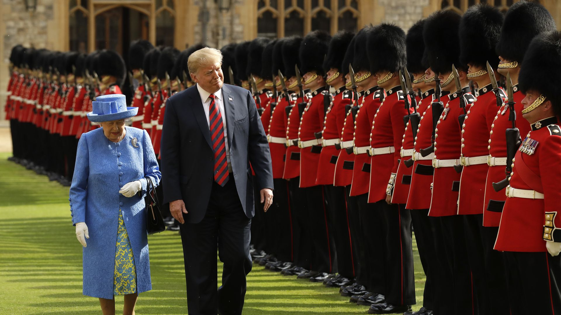 United States, US President, Donald Trump, Queen Elizabeth II, Windsor Castle, US National Anthem, UK, US, London, protests, anti-Trump protests,