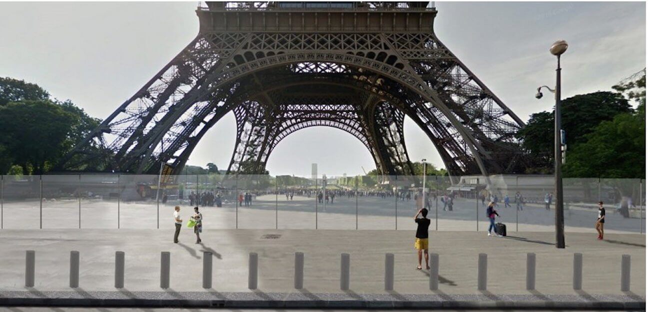 Here's how the bulletproof glass on the Eiffel Tower looks