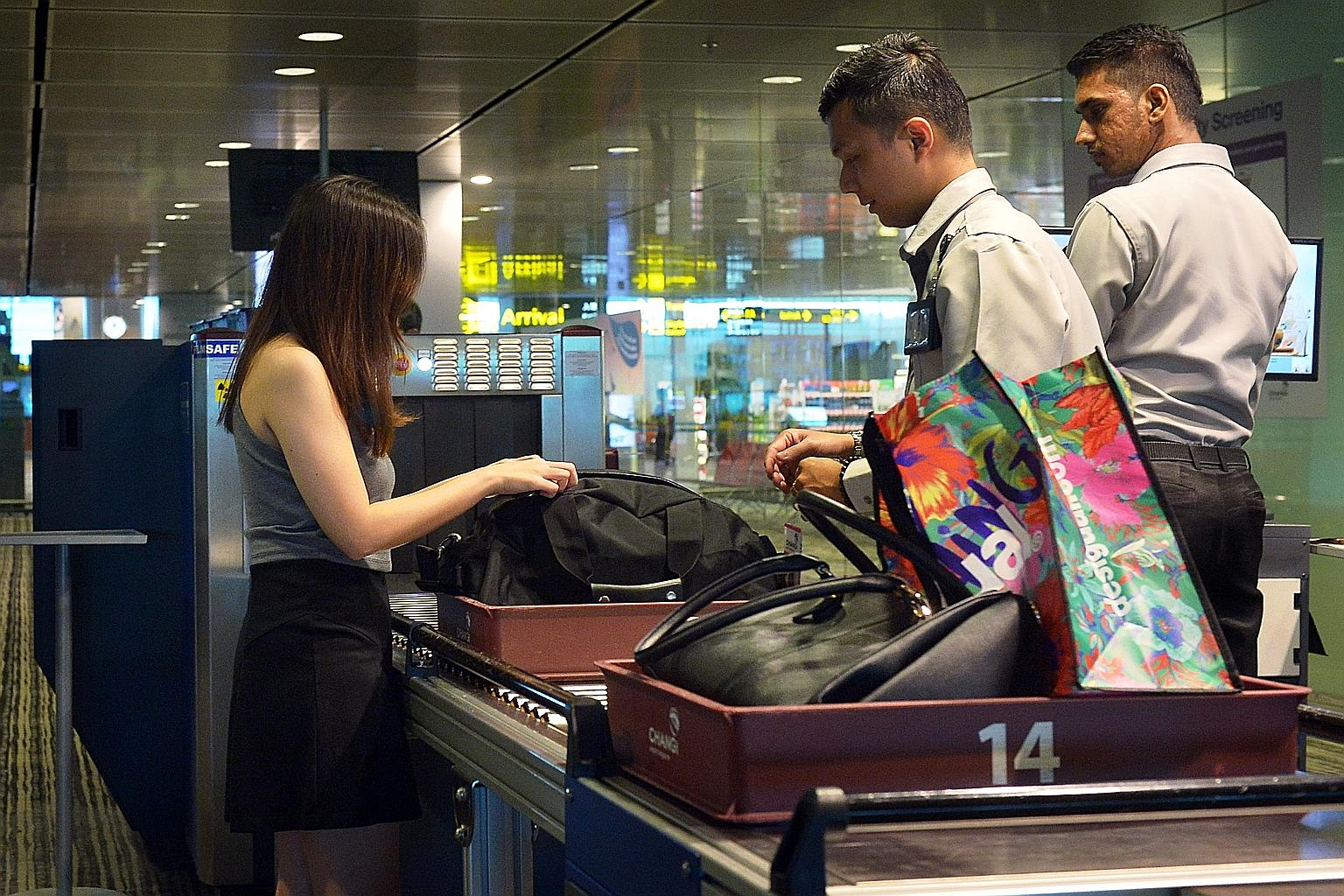 Travellers may need to forgo snacks found in check-in baggage at airport