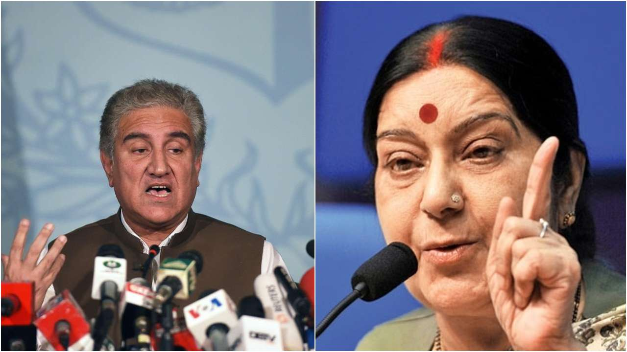 Sushma Swaraj, Shah Mehmood Qureshi, bilateral, talks, UN, United Nations, MEA, NewsMobile, Mobile News, Pakistan, India