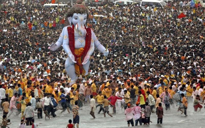 Ganesh Chaturthi, Mumbai, ganesh idol, visarjan, India,