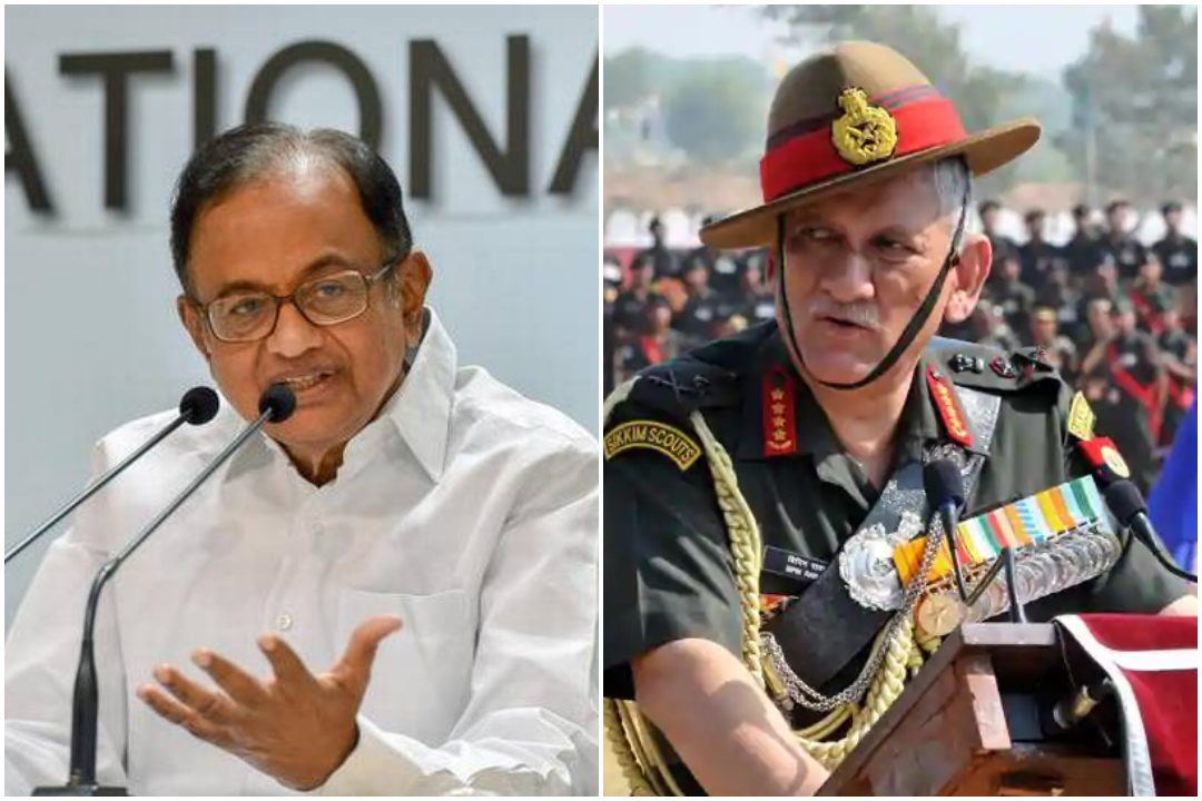Army Chief, P Chidambaram, Bipin Rawat, Congress, Indian Army, Surgical Strike, Surgical Strike Day, 20 years, September 29, NewsMobile, Mobile News, India, Politics