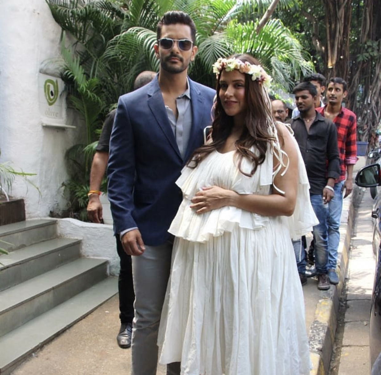 Pictures, Parents-to-be, Neha Dhupia, Angad Bedi, baby shower, Entertainment, India, NewsMobile, Mobile News