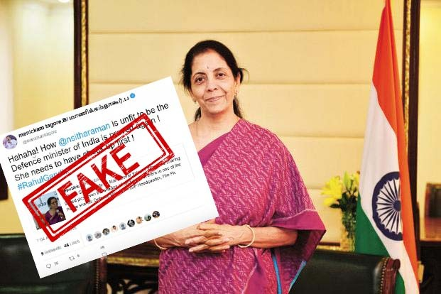 Congress, leader, retweeted, FAKE, tweet, parody, account, Republic TV, NewsMobile, Mobile News, Fact Check, Fact Checker, Fake news, Fake, Tweet, Twitter, India, Congress, BJP, Defence Minister, Nirmala Sitharaman