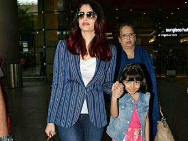 Aishwarya Rai Bachchan gets trolled for holding daughter's hand