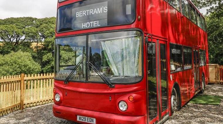 Relive Agatha Christie's detective novels in this double-decker hotel bus