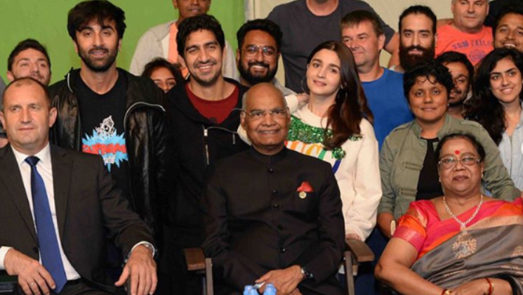 Alia Bhatt, Ranbir Kapoor meet President Kovind on sets of Brahmastra