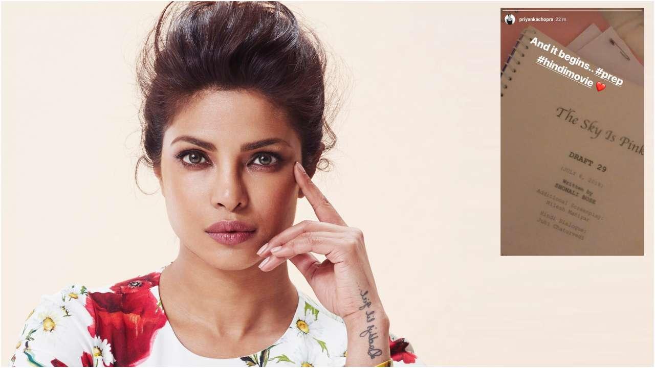 Priyanka Chopra resumes shooting of 'The Sky Is Pink'