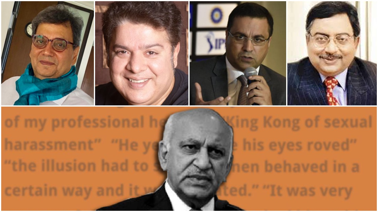 MJ Akbar, Alok Nath, Vikas Bahl, Rahul Johri, Subhash Ghai, Nana Patekar, Tanushree dutta, Vinta Nanda, Malika Dua, Nishtha Jain, #MeToo, India, Hollywood, Bollywood, Journalism, Asian Age, Politics, BJP