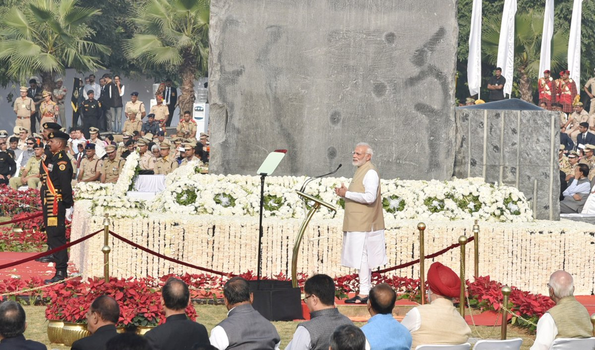 Prime Minister, Narendra Modi, Emotional, Policemen, Police Memorial, New Delhi, NewsMobile, Mobile News, India