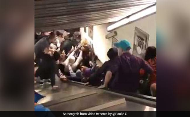 WATCH, Several, injured, Rome, escalator, malfunctioned, Metro Station, NewsMobile, Mobile, News, Italy, India