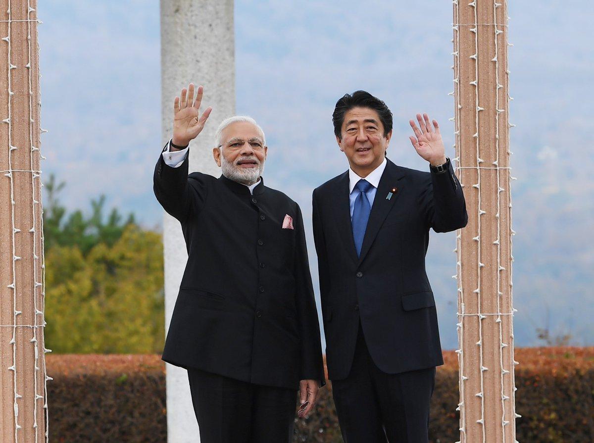 PM Modi , Shinzo Abe, Yamanashi, Prime Minister, Narendra Modi, Japan, NewsMobile, Mobile, News, India