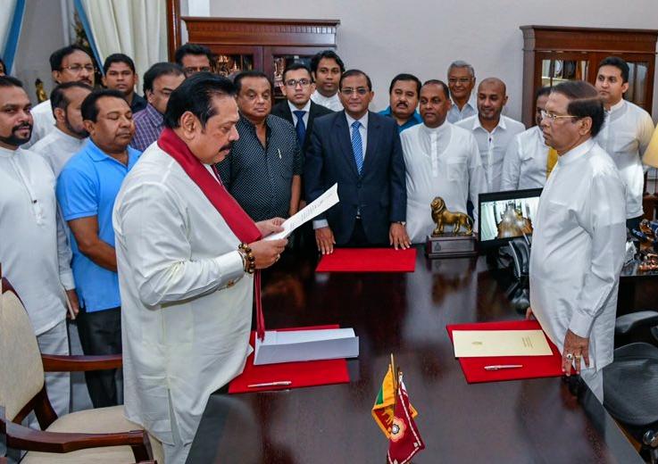 Former President, Mahinda Rajpaksa, sworn in, Prime Minister, Sri Lanka, World, NewsMobile, Mobile, News, India