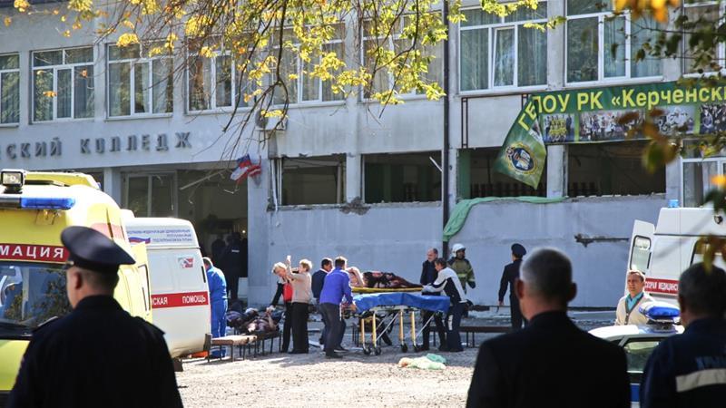Terrorist blast in college in Russia