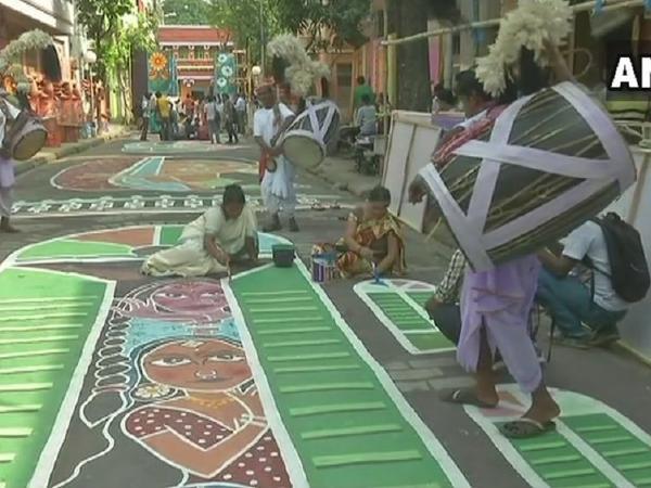 A Durga Puja pandal in Kolkata honours sex workers
