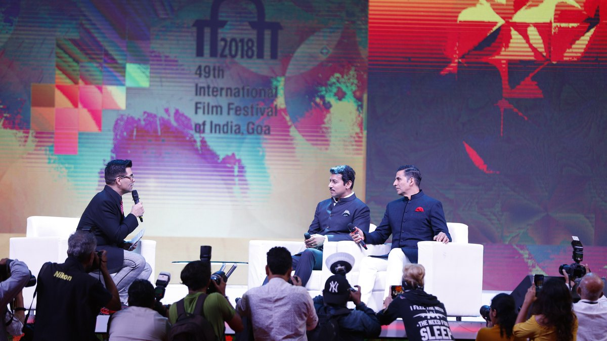 KJo, quizzed, Rajyavardhan Rathore, Akshay Kumar, IFFI, International Film Festival of India, Goa, NewsMobile, Mobile, News, India