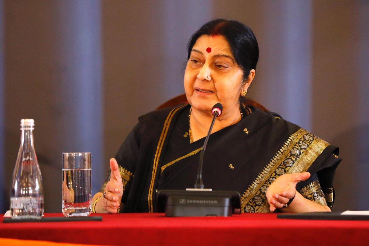 Pakistan, illegal, occupying, India, territory, J&K, Sushma Swaraj, External Affairs Minister, EAM, Lok Sabha, Parliament, India, Border, Jammu and Kashmir, NewsMobile, Mobile, News, India