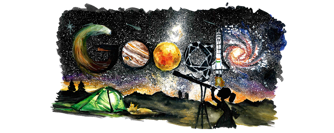 Look what this student created for Google doodle on Children's Day
