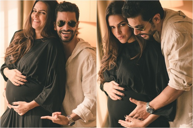Neha Dhupia and Angad Bedi post first picture of daughter Mehr