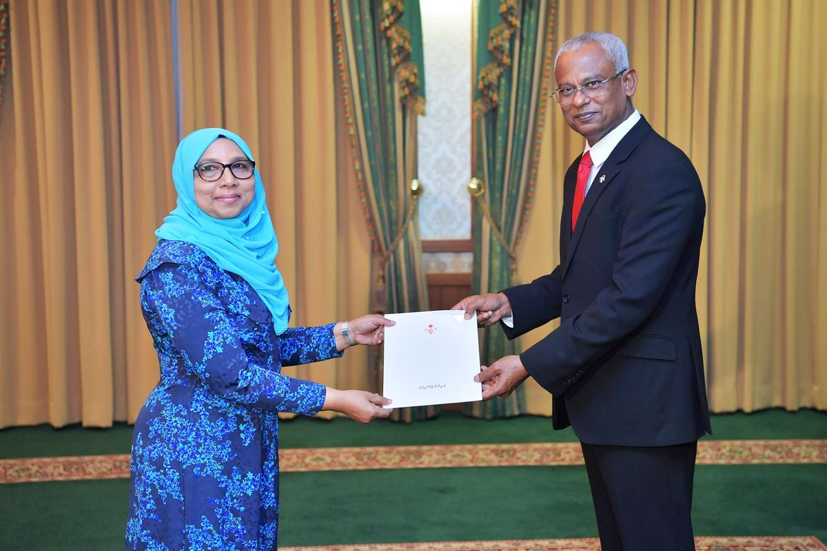 Aishath Mohamed Didi, Maldives, President, Ibrahim Mohamed Solih, Power Buzz, Ambassador, NewsMobile, Mobile, News, India