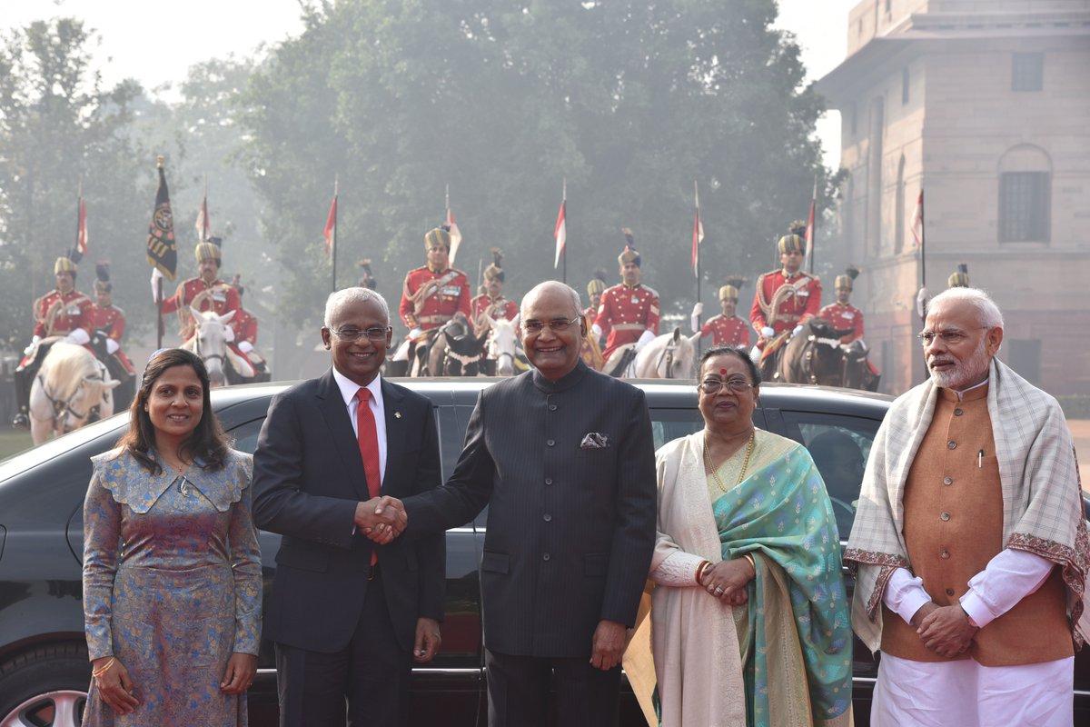 Ibrahim Mohamed Solih, Maldivian President, India, Narendra Modi, Kovin, Rashtrapati Bhavan