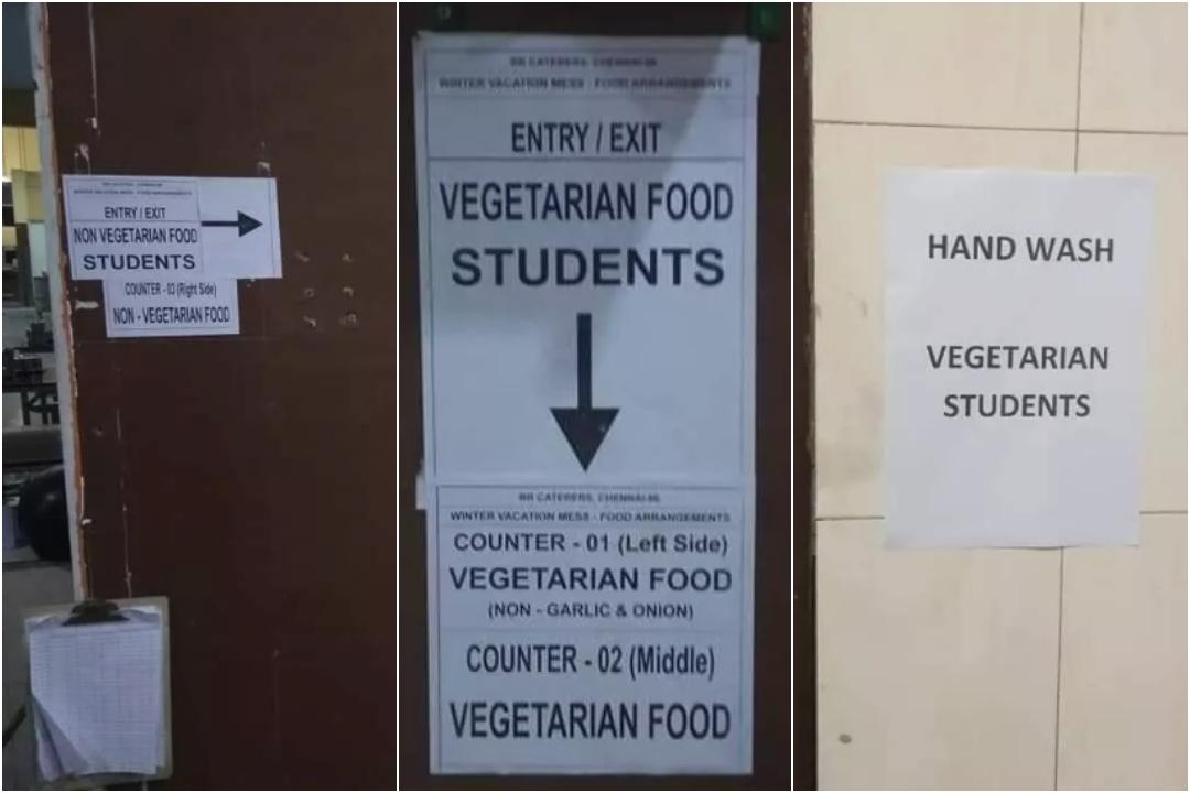IIT, Madras, Tamil Nadu, Vegetarians, Non Vegetarians, Food, Discrimination, Division, NewsMobile, Mobile, News, India