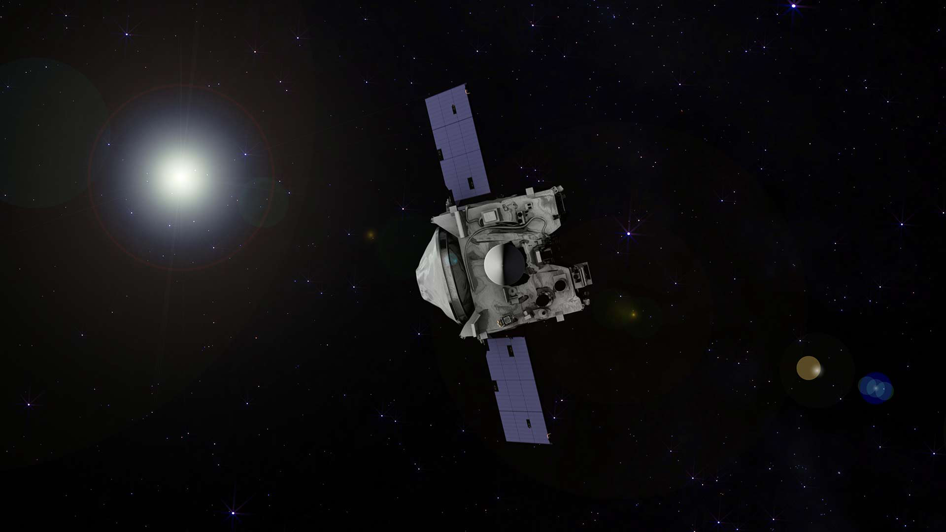 NASA spacecraft's first visitor arrives at ancient asteroid