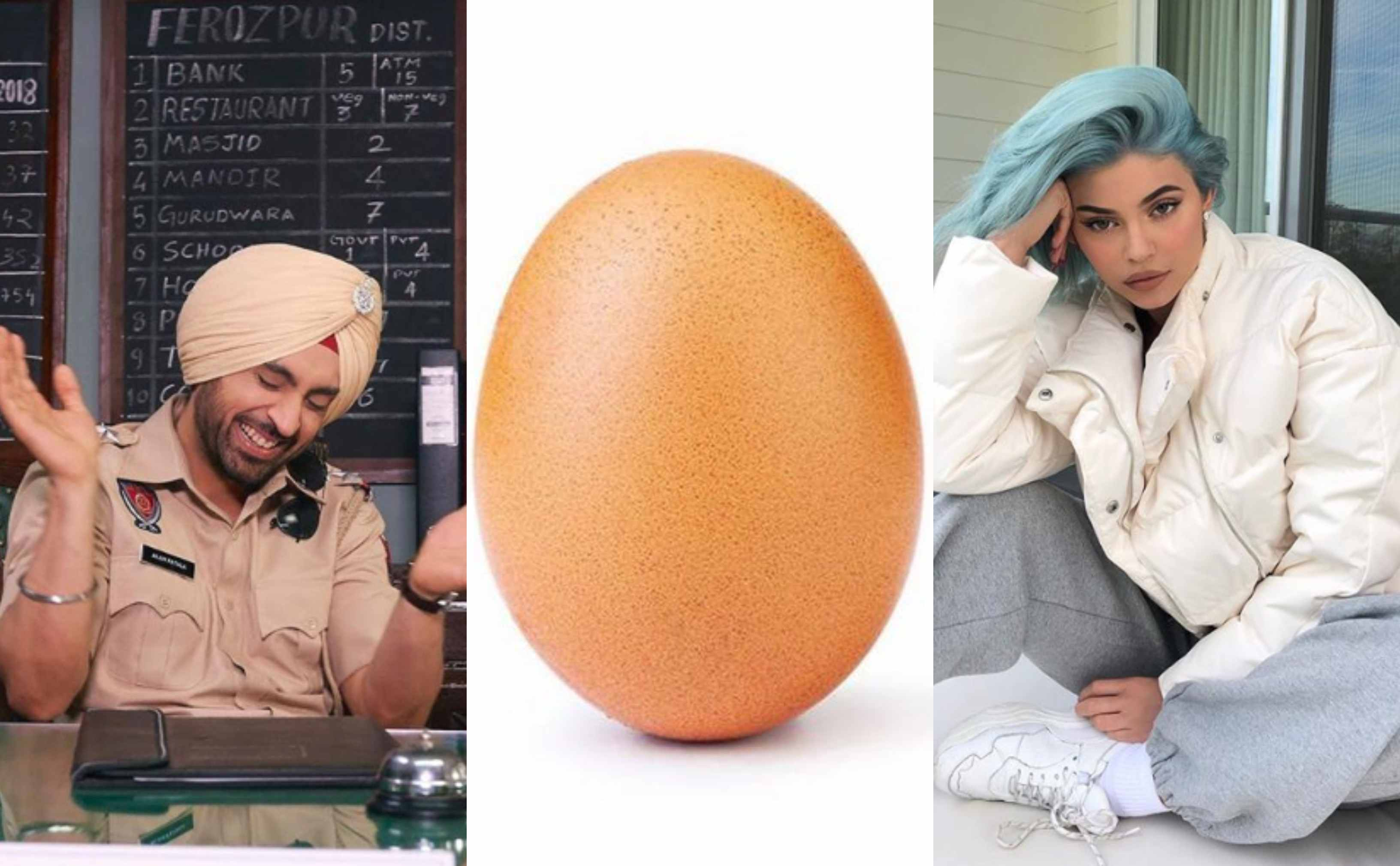 Diljit Dosanjh, took, avenged, Kylie Jenner, egg, dethroned, Model, NewsMobile, Mobile, News, India, Entertainment