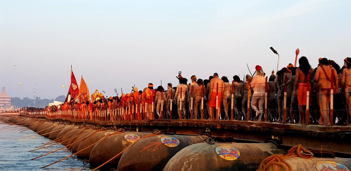 NewsMobile, news for mobile, mobile news, Kumbh, Prayagraj, Allahabad, Kumbh Mela, Naga Sadhu, devotees, photo gallery, In pictures, pictures, shahi snan, Shahi Snan Kumbh
