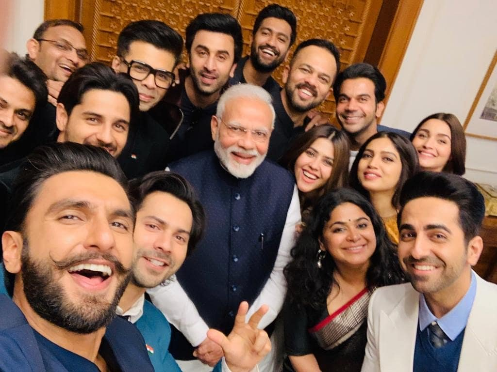 Ranveer Singh,Ranbir Kapoor,Alia Bhatt,Varun Dhawan, Ayushmann Khurrana, Rajkummar Rao, Sidharth Malhotra, Bhumi Pednekar, Ekta Kapoor, Vicky Kaushal, Karan Johar , Meet, PM Modi, News Mobile, News Mobile India