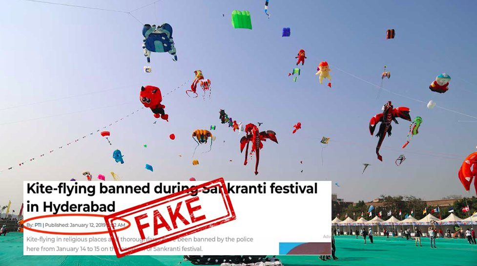 Fact Checked, Hyderabad, ban, kite, flying, Makar Sankranti, Pongal, Fact, Check, Checker, Fact Check, Police, Fake, News, FAKE News, Mobile, NewsMobile, India