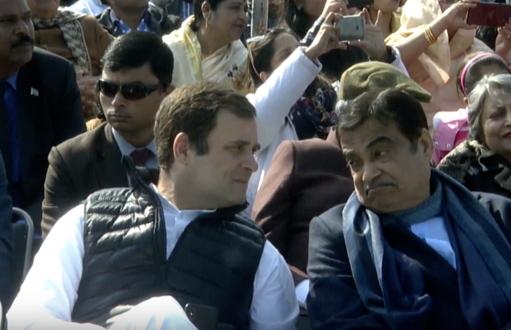 Congress, President, Rahul Gandhi, Nitin Gadkari, BJP, Lok Sabha, Polls, Republic Day, Celebrations, Parade, NewsMobile, Mobile, News, India