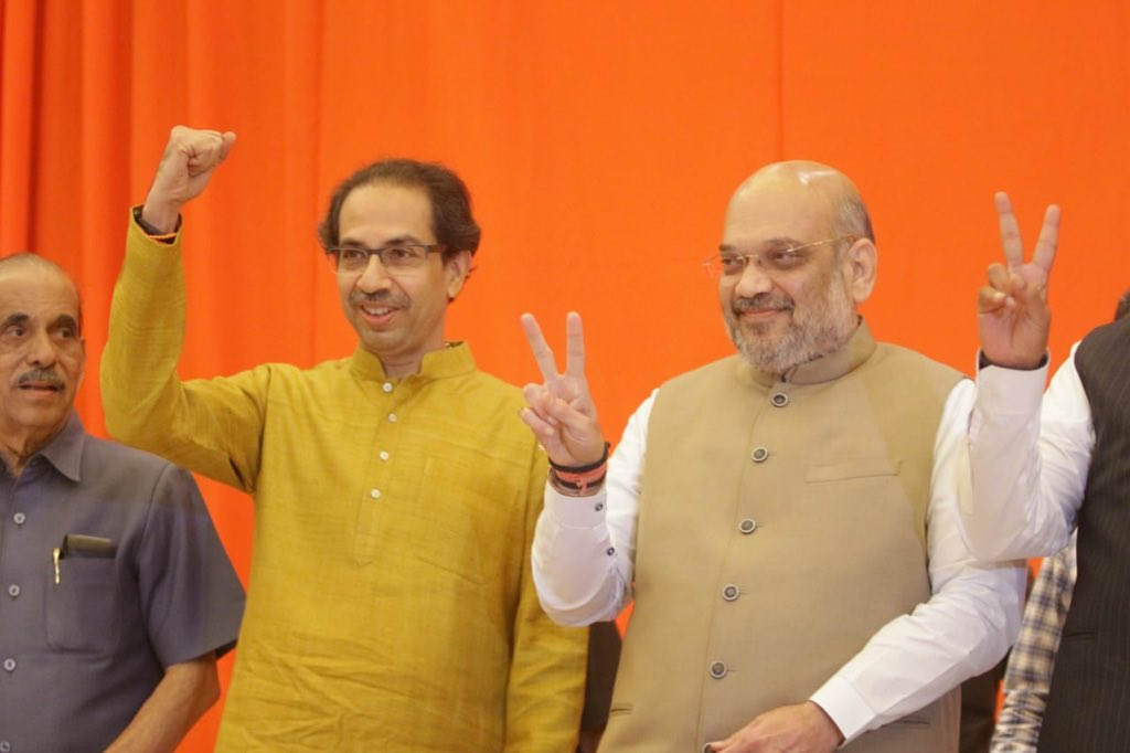 BJP, Shiv Sena, Amit Shah, Uddhav Thackeray, Devendra Fadnavis, Maharashtra, Lok Sabha, General Elections, Elections, Polls, India, Chief Minister, NewsMobile, Mobile, News, India