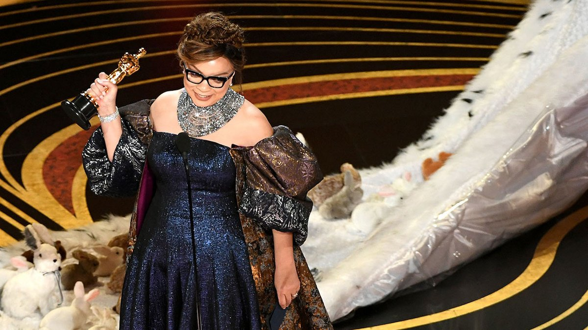 Ruth E. Carter accepting Academy Award for 'Best Costume Design' in 'Black Panther'