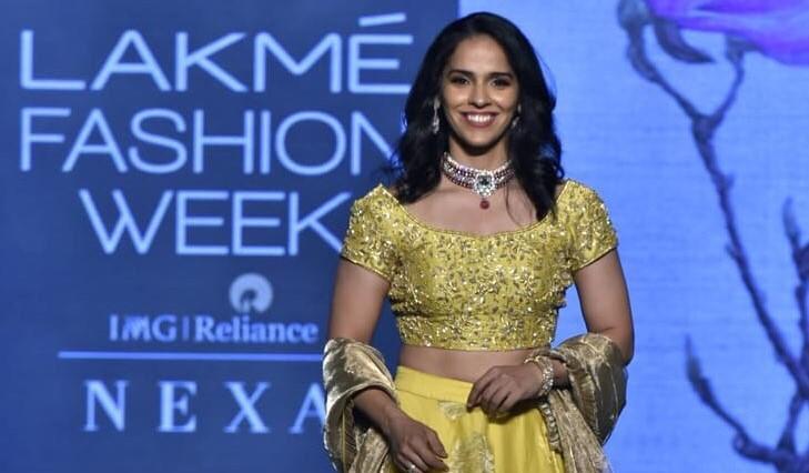 Saina Nehwal at Lakme Fashion Week 2019