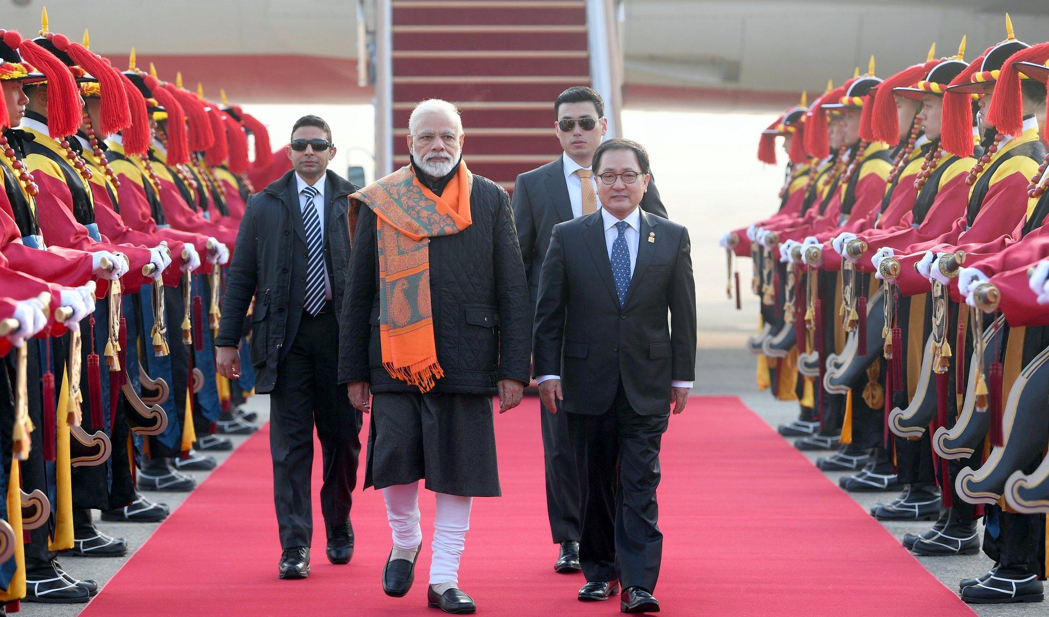In Pictures: PM Modi unveils Mahatma Gandhi's statue in South Korea