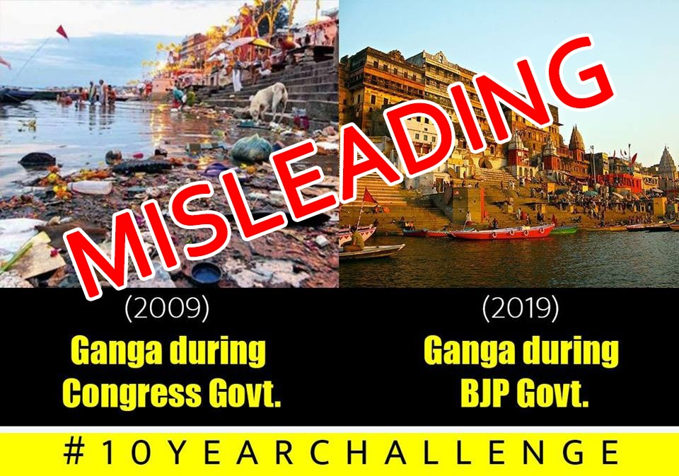 Ganga, Ghat, Picture, Congress, 2019, 2009, Misleading, Fake, Fact, Check, Checker, News, NewsMobile, Mobile, India