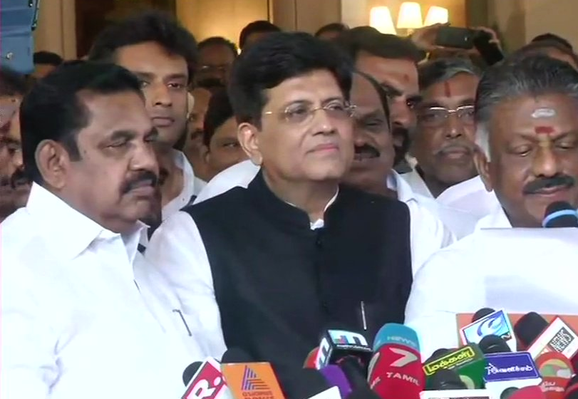 BJP, Bharatiya Janata Party, AIADMK, Chennai, Piyush Goyal, NewsMobile, Mobile, News, India, Lok Sabha, Elections, 2019