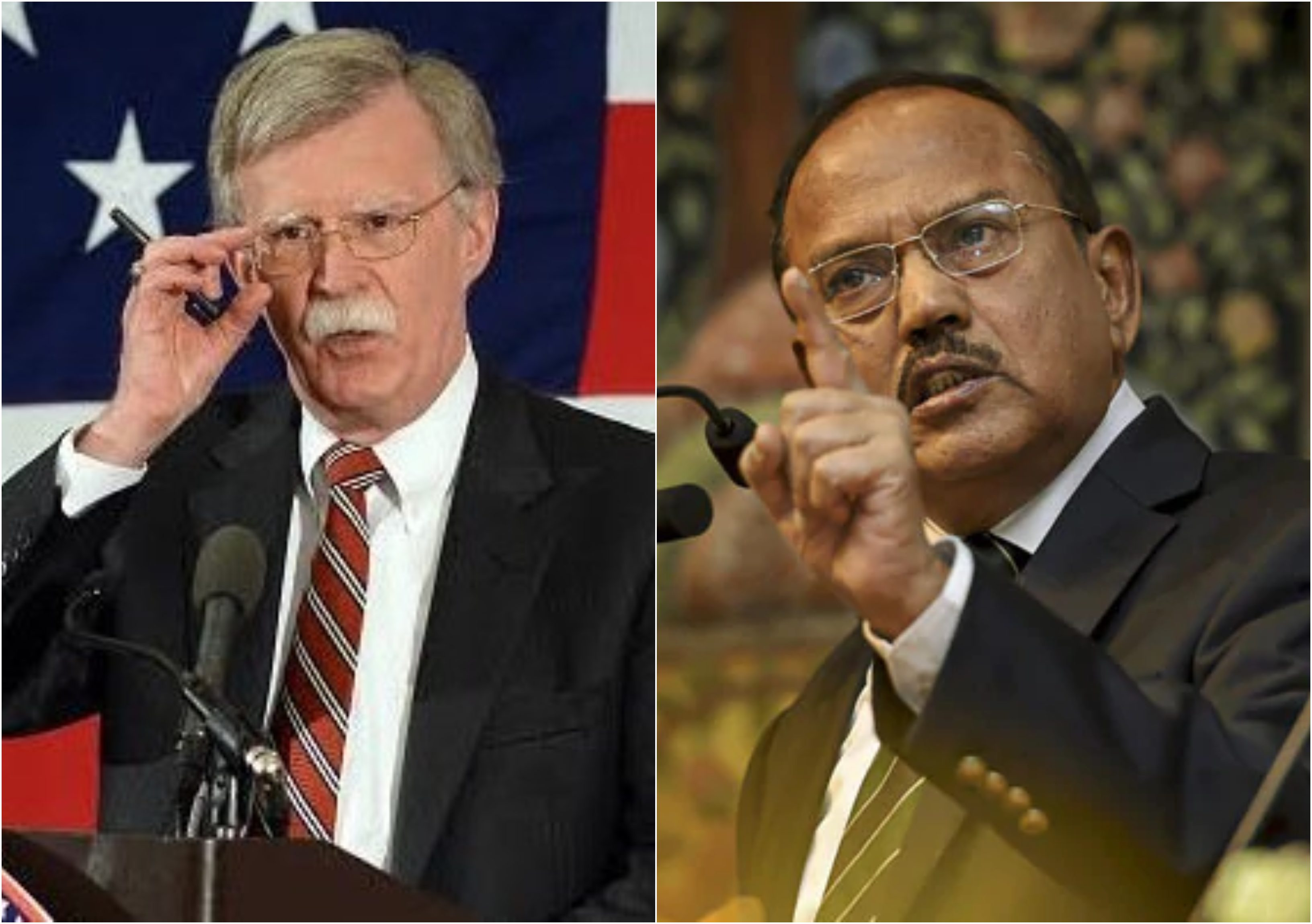 US, National Security Adviser, John Bolton, Ajit Doval, Puwama, Attack, Terrorist, Pakistan, Jammu and Kashmir, NewsMobile, Mobile, News, India