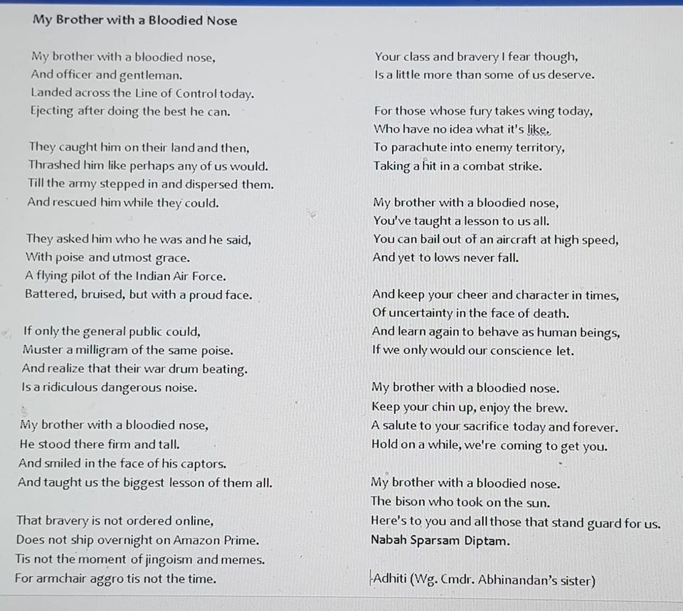 This Heart Touching Viral Poem Was Not Written By Iaf Pilot