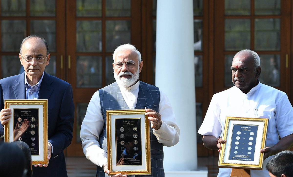 PM Narendra Modi, Union Finance Minister Arun Jaitley, Divyang Friendly, Coins, Visually Imparied, News Mobile, News Mobile India