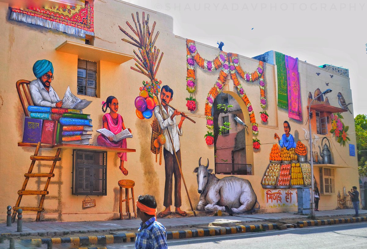 Lodhi Colony Delhi Gets Colourful Art On The Walls Makes This A Must Visit Newsmobile