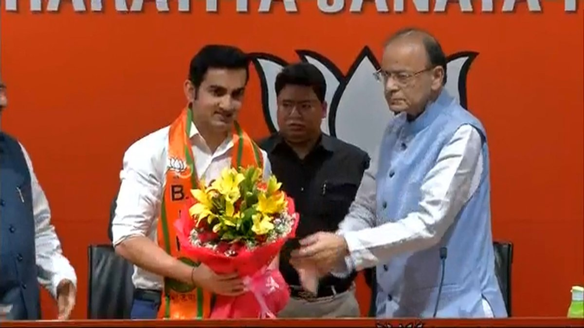 Gautam Gambhir, Cricketer, Lok Sabha, BJP, Politics, Cricket, NewsMobile, Mobile, News, India