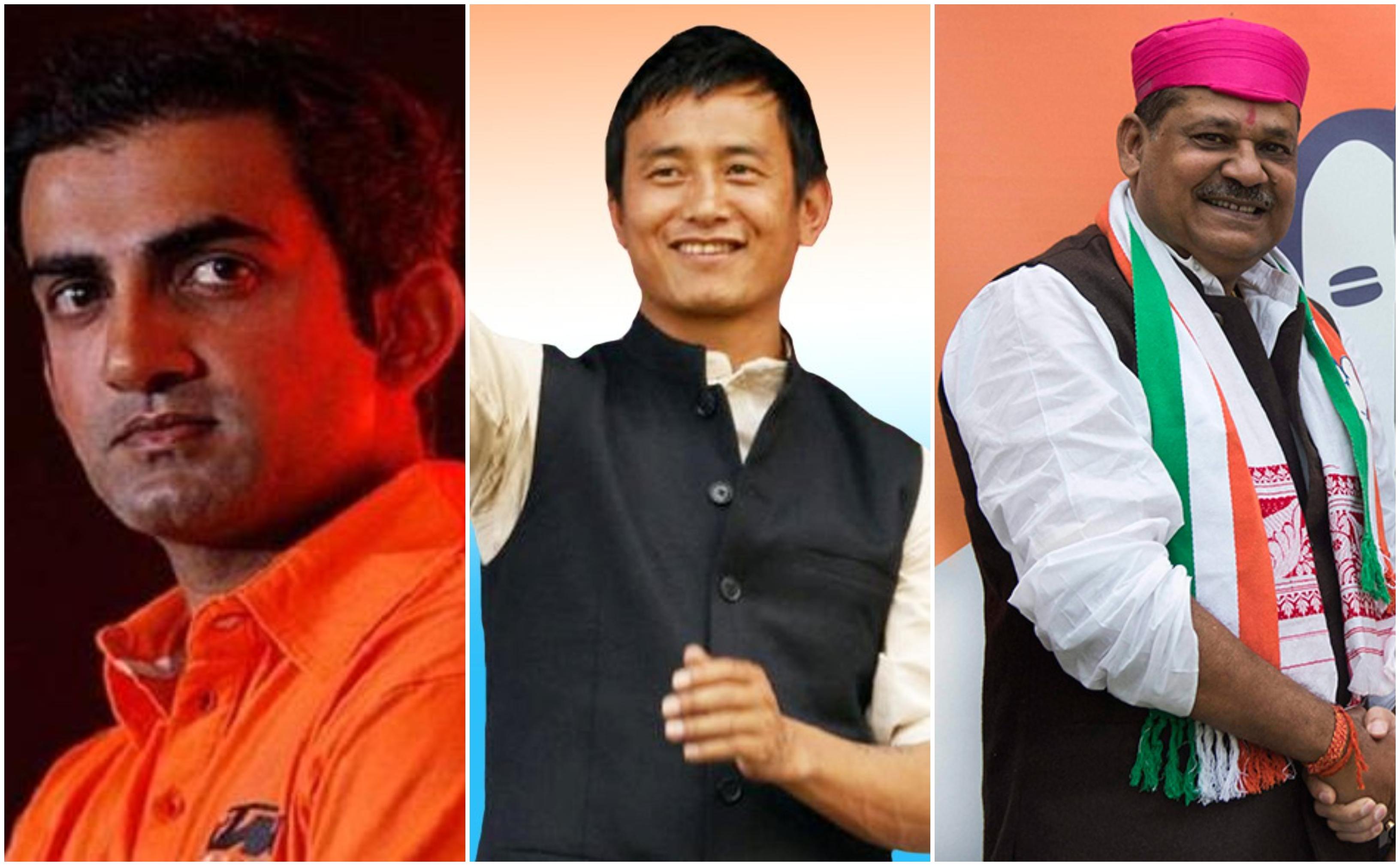 Gautam Gambhir, Bhaichung Bhutia, Navjot Singh Sidhu, Rajyavardhan Singh Rathore, Kirti Azad, Mohammad Azharuddin, Elections 2019, Battle For India, Lok Sabha Elections 2019, News Mobile India, News Mobile India